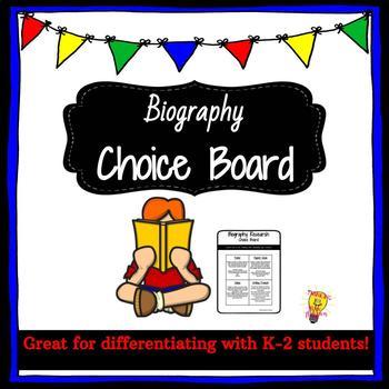 Biography Choice Board