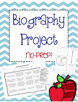 Biography Choice Board/Think-Tac-Toe Project: No Prep!