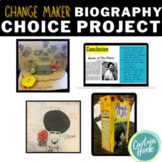 Biography Choice Project-- Diorama / Cereal Box / Google Slides / Poster for PBL
