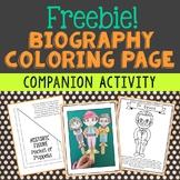 Biography Coloring Page Craft Companion Activity, Dr. Seuss, Michael Jordan