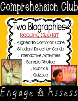 Biography Comprehension Club Kit for Interactive Reading Notebooks