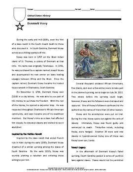 Biography: Denmark Vesey