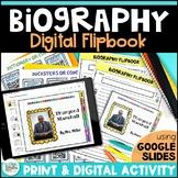 Biography Digital Flipbook Template for Google Classroom