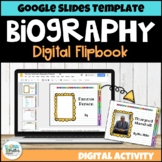 Biography Digital Flipbook Template for Google Classroom   Distance Learning