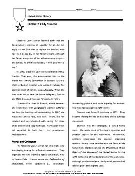 Biography: Elizabeth Cady Stanton
