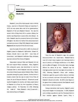 Biography: Elizabeth I