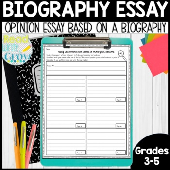 Essay For High School Application Examples Biography Essays Opinion Writing Miniunit Essay About English Language also Gay Marriage Essay Thesis Biography Essays Opinion Writing Miniunit By Read Write Grow With  Purpose Of Thesis Statement In An Essay