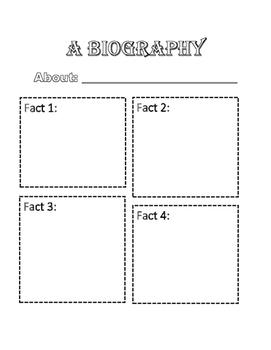 Biography Fact Sheet (Read & Research)