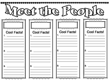 Biography Facts about Famous People in History Graphic Organizer
