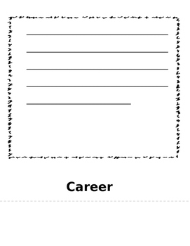 Biography Flip Book: Great for Black History Month