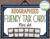 Biography Fluency Task Cards