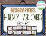 Biography Fluency Task Cards