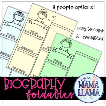 Biography Foldables