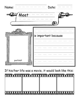 free graphic organizers for writing a biography about yourself