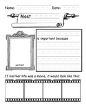 Free Biography Graphic Organizer