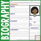 Unforgettable image pertaining to biography graphic organizer printable