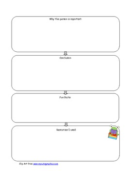 Biography Graphic Organizer - Adapted Version Included