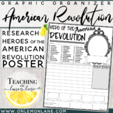 Biography Graphic Organizer American Revolution Hero Report Research
