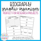 Biography Research Graphic Organizer, Choice Board, and Ex