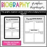 Biography Graphic Organizer Printable and Google Slides Version