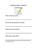 Biography Graphic Organizer for Pebblego.com