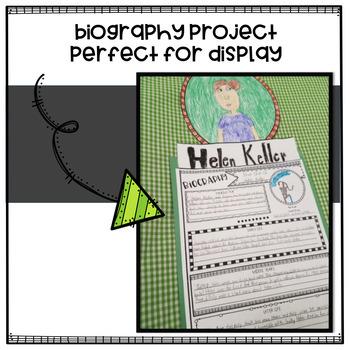 Biography Graphic Organizers