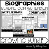 Biography Reading Comprehension Growing Bundle
