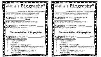 Biography Guided Notes Page