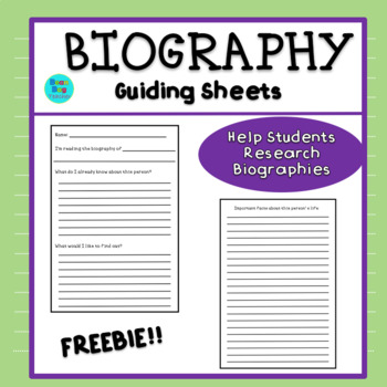 Biography - Guiding Sheets