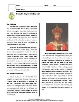 Biography: Henry IV (Holy Roman Emperor)