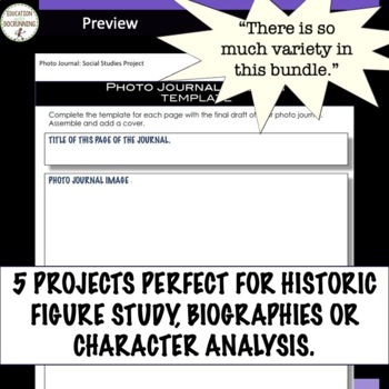 Biography or Historic Figure Project Bundle 10% OFF IN MAY