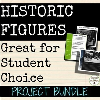 Biography or Historic Figure Project Bundle
