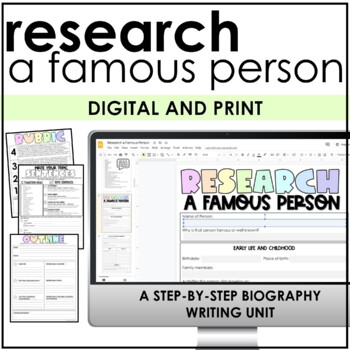 Biography Informational Research and Writing