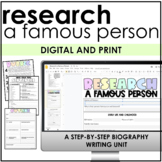 Biography Writing (Research, Citing, Informational)