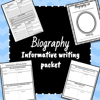 Biography Informative Writing Packet