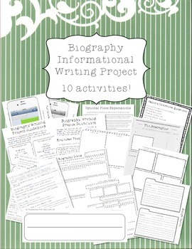 Biography Informative Writing Project