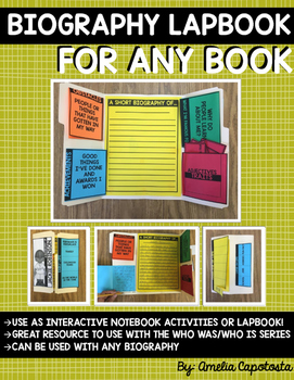 Biography Interactive Lapbook or Notebook {ANY BOOK}