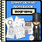 BIOGRAPHY - FAMOUS AMERICANS Interactive Notebook and Nonfiction Text Features