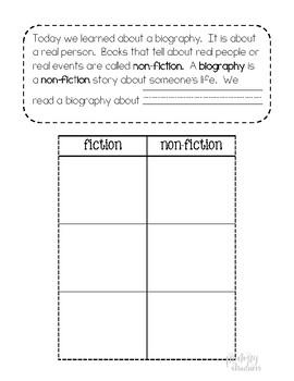 Biography Interactive notebook