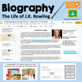 Biography w/ Comprehension and TEI Questions for Google Cl
