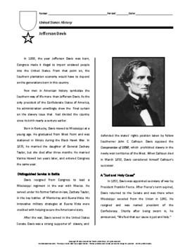 Biography: Jefferson Davis