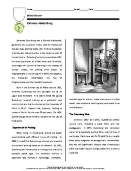 Biography: Johannes Gutenberg