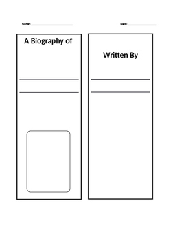 Biography Lap Book