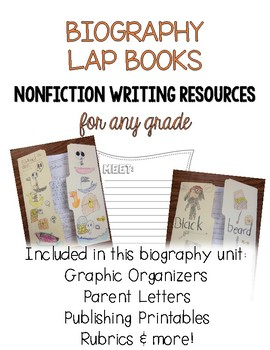 Biography Lap Books - Nonfiction Writing Resources for any Grade