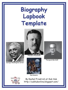 Biography Lapbook Template