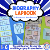Biography Lapbook to Research Any Person - Good for Distan