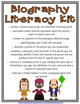 Biography Literacy Kit