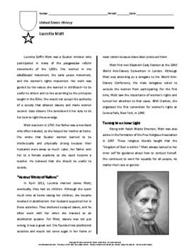 Biography: Lucretia Mott