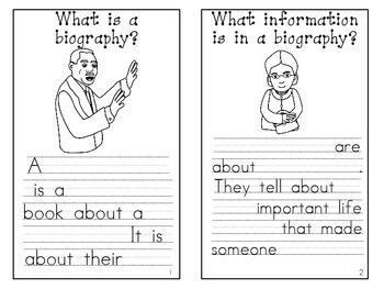 Biography Mini Book