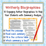 Biography Mini-Passages w/ Summary Analysis--Group Work, T